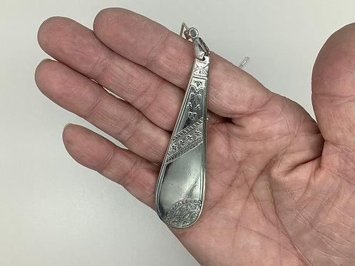 Silverplate Spoon Pendant-Egyptian Revival