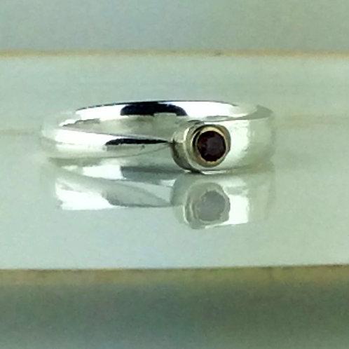 Fork Tine Spoon Ring-Amethyst Rhinestone