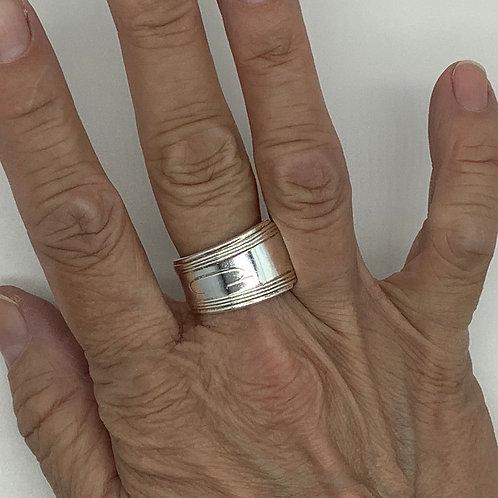 "Spoon Ring ""C"" Initial"