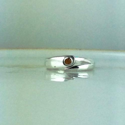Fork Tine Spoon Ring-Topaz Rhinestone