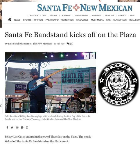Santa Fe Bandstand kicks off with Felix y Los Gatos