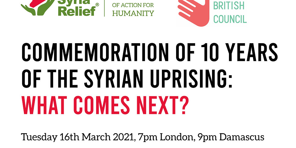 Commemoration of 10 Years of the Syrian Uprising. What Comes Next?