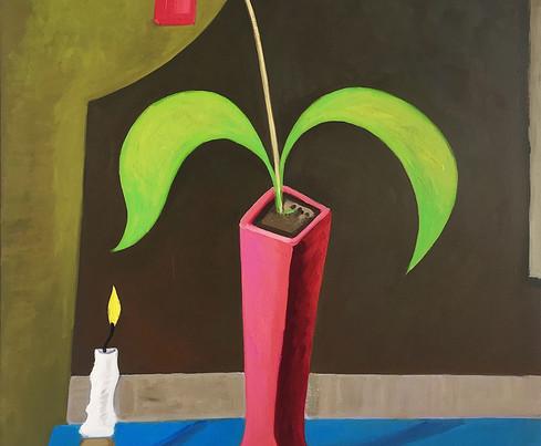 Stilleben mit Kerze 2, 2020, oil on canv