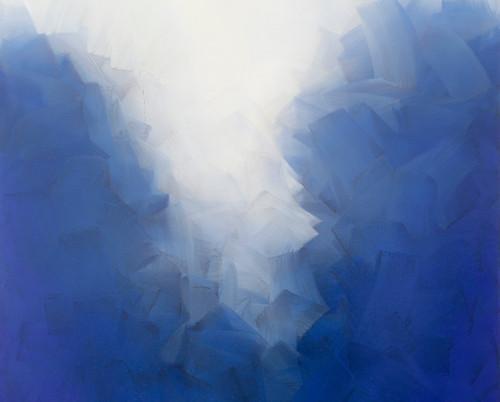 Claridad, Oleo:tela 100 x 100 cm .2020.J
