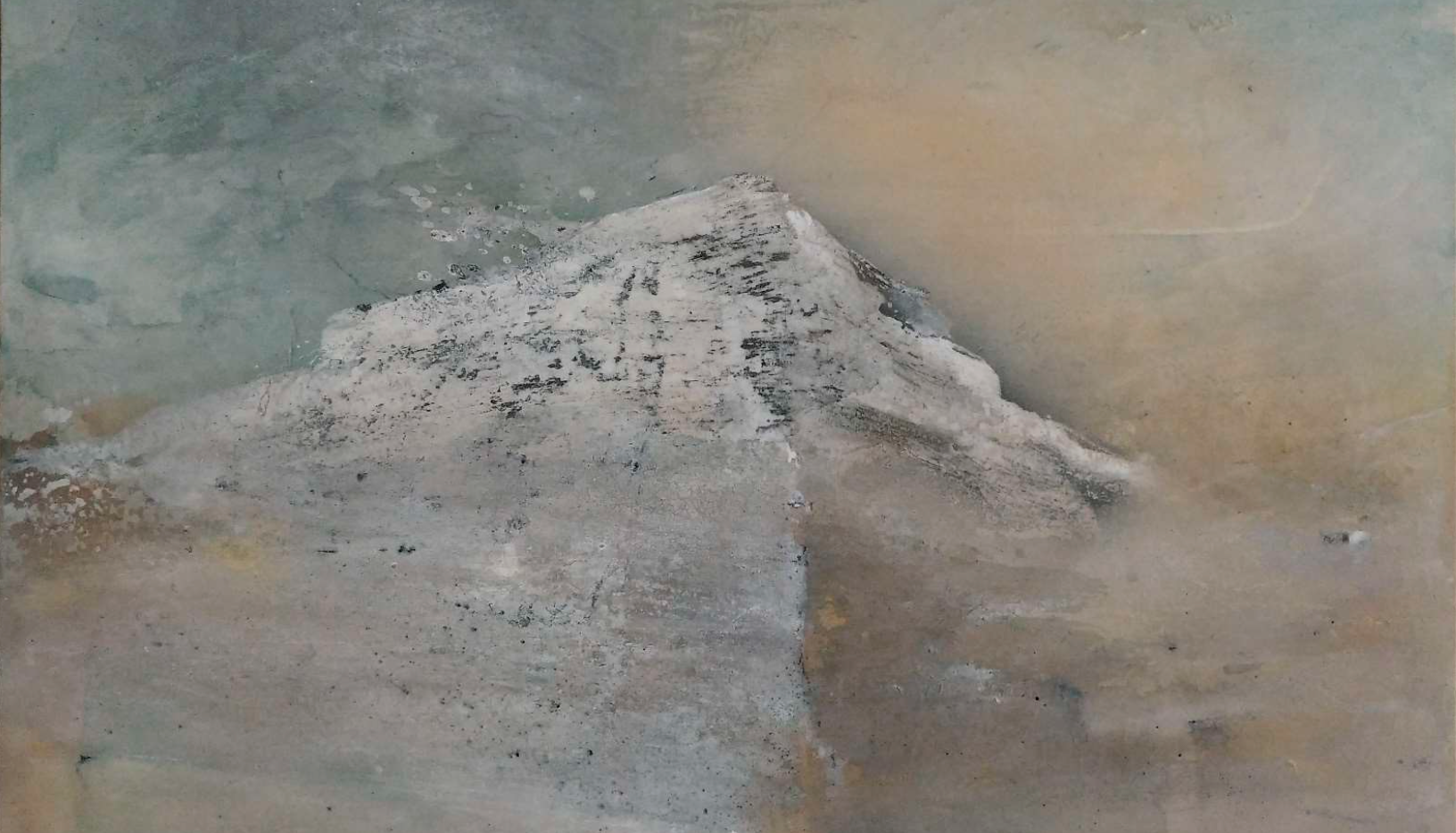 """""""There will be no stratum. No sediment, no ice. Nothing""""  135x 89 cm  2020"""