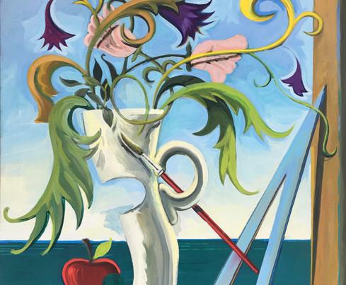 Melancolia_2020, oil on canvas, 100x81 c
