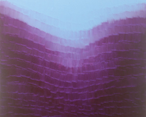 Endless Falls, Oleo:tela. 100 x 100 cm.