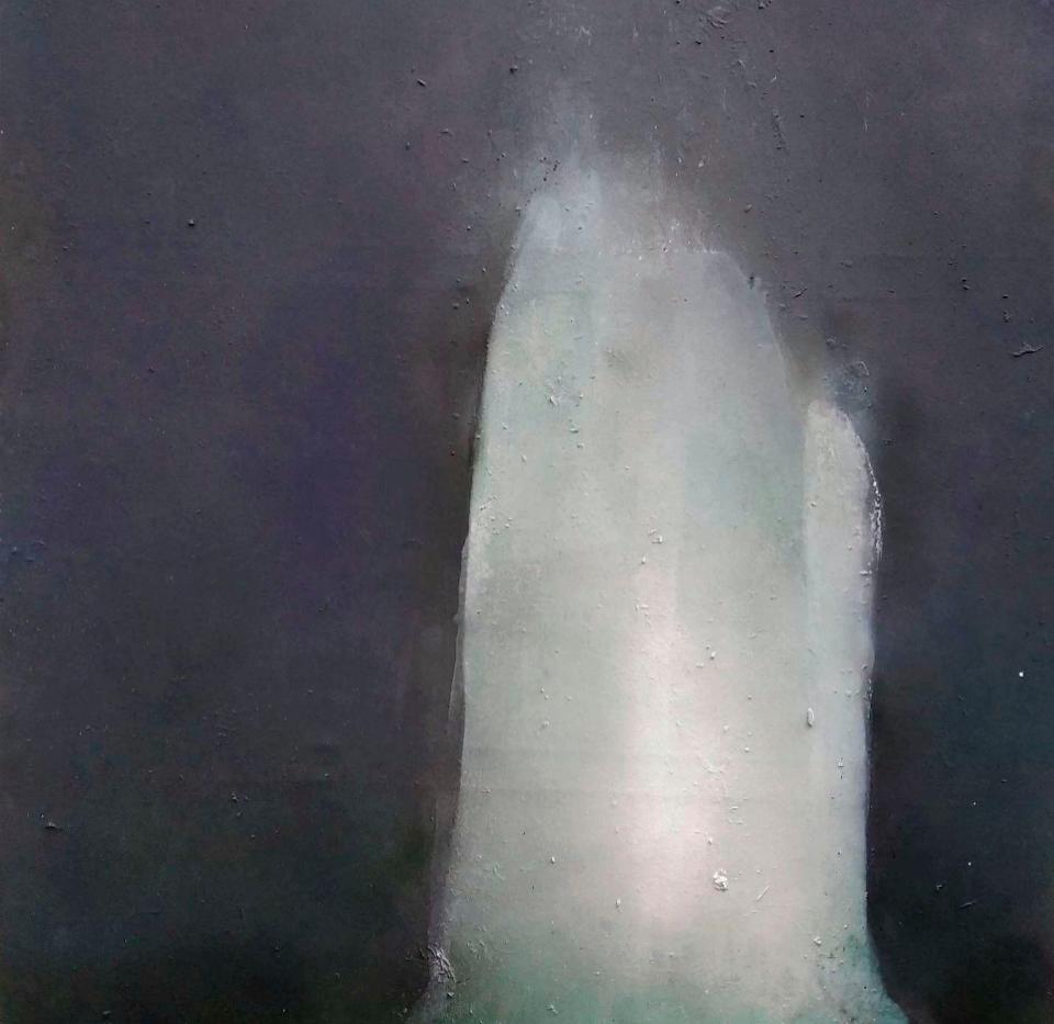 Amarnath. 114 x 165 cm Acrílico y esmalte sobre tela.  2020