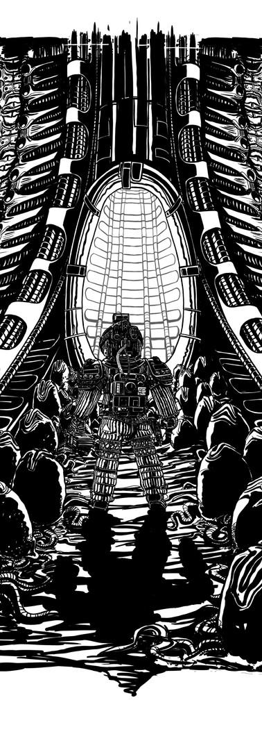 Alien poster line art