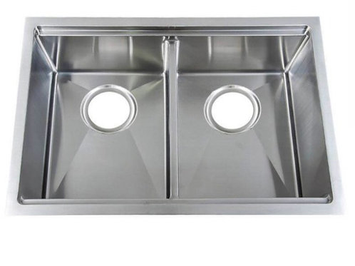 Top Quality 18Gauge Type 304 Stainless steel double undermount sink