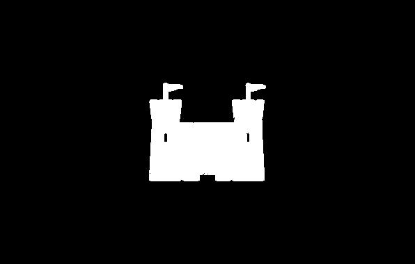 Cartoon of a Castle in white