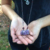 Amethyst pendant necklace by Marlowe Emerson