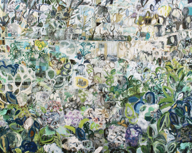 Arboreality, 48 x 60, mixed media on canvas, 2017