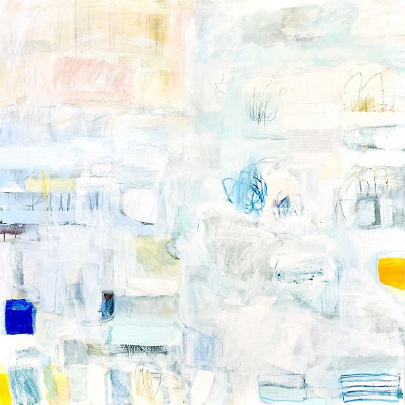 Phaze III, 48x48, mixed media on canvas, 2021