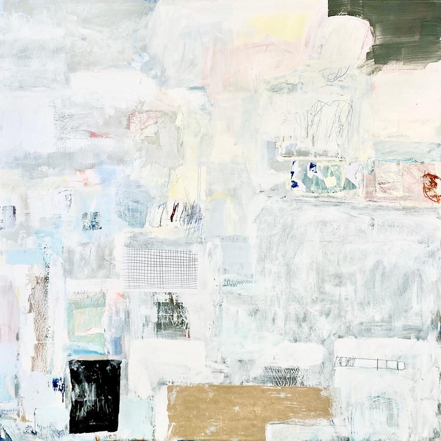 Phaze I, 48x48, mixed media on canvas, 2021