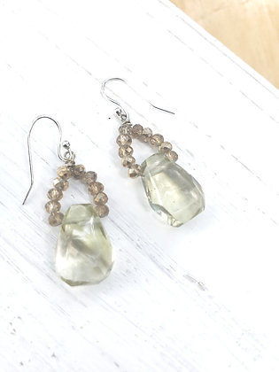 Lemon Smoky Quartz Drop Earrings