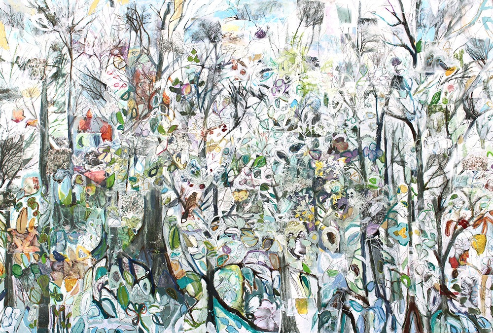 Our Forest, 48 x 72, mixed media on canvas, 2017