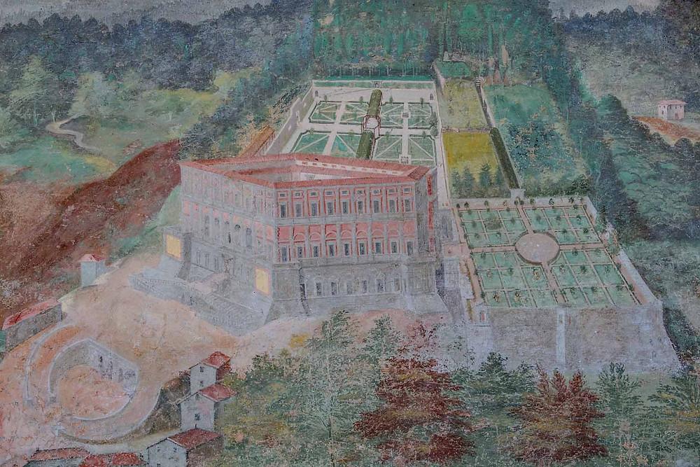 Fresco Caprarola Villa Lante Lazio