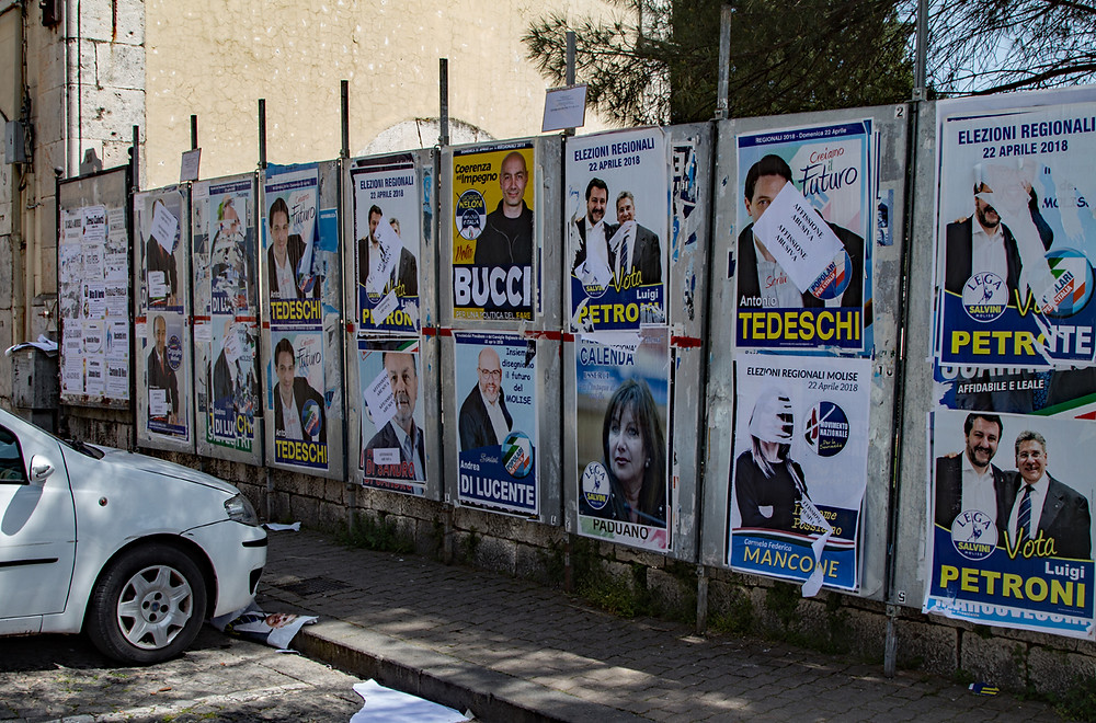 Venafro Election posters 2018