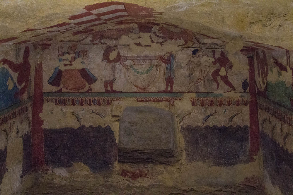 Tomb of the Lionesses Tarquinia Lazio