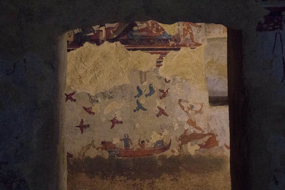 Tomb of the Hunting and Fishing Tarquinia Lazio