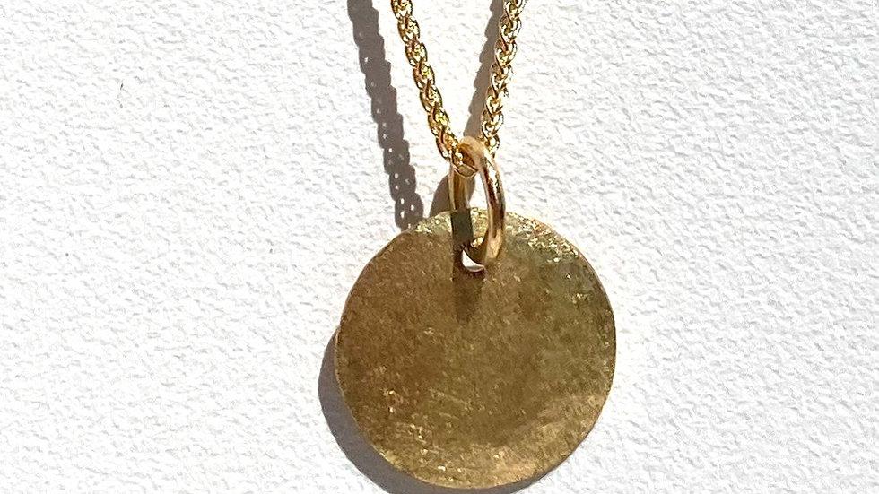 Gold-Anhänger rund, geschmiedet, Ø ca. 12mm