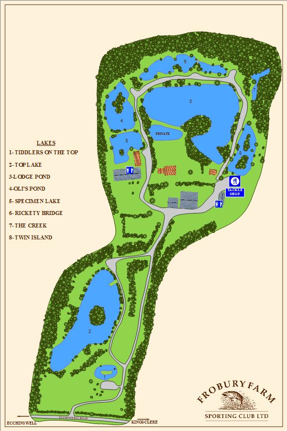 Map | Frobury Farm | Fishery