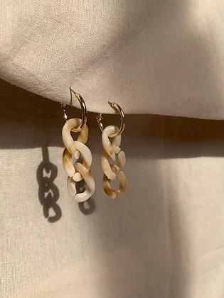 Beige Chain Earrings