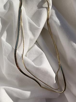 Snake layer necklace