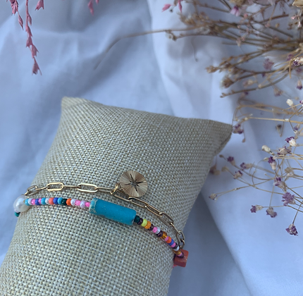 Summer gold bracelet
