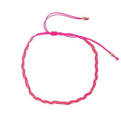 Pink twisted bracelet