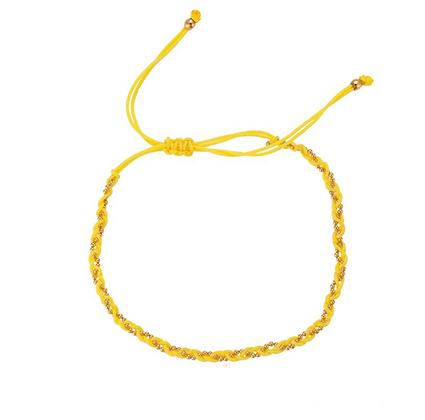 Yellow twisted bracelet