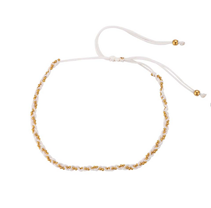 White twisted bracelet