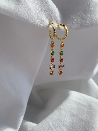 Colourful earrings