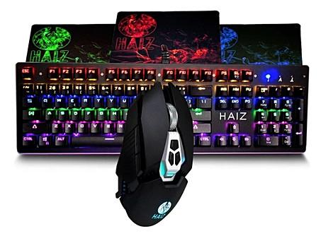 Kit Teclado Mecânico Rgb + Mouse Gamer