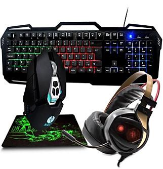 Kit Gamer Teclado Mouse 7 Botões 3200dpi