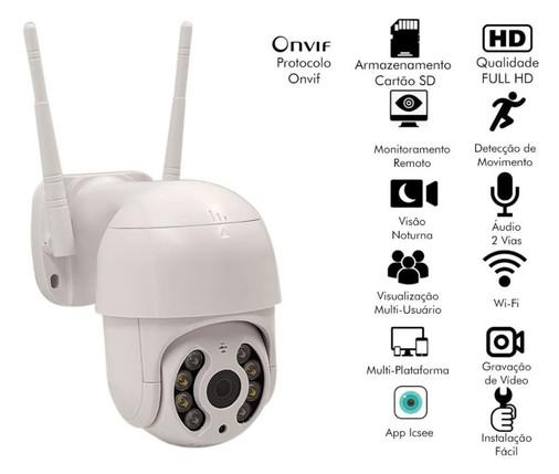 Speed Dome Câmera Ip Wifi Sistema Icsee