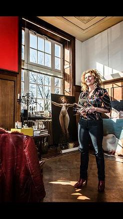 Suzanne Postel in haar atelier