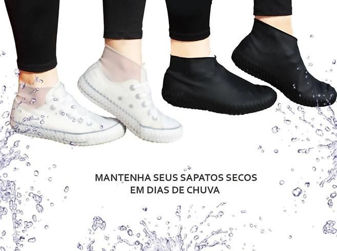 Protetor De Sapato De Silicone Impermeável