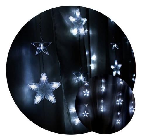 Cortina Led Estrelas Branca Fria 110v  220v
