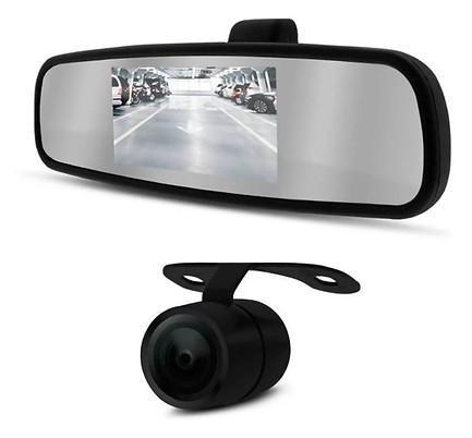 Kit Câmera De Ré  Estacionamento Espelho