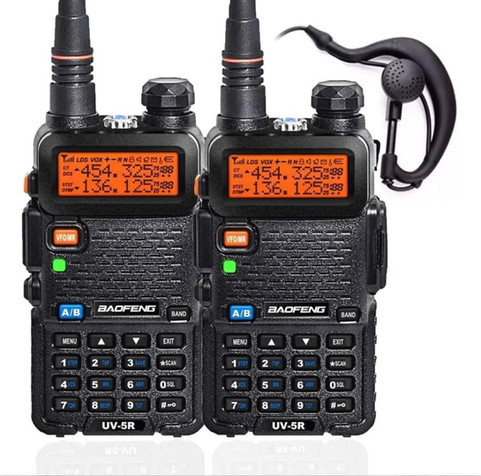 Kit 2 Rádios Comunicadores Ht Dual Band
