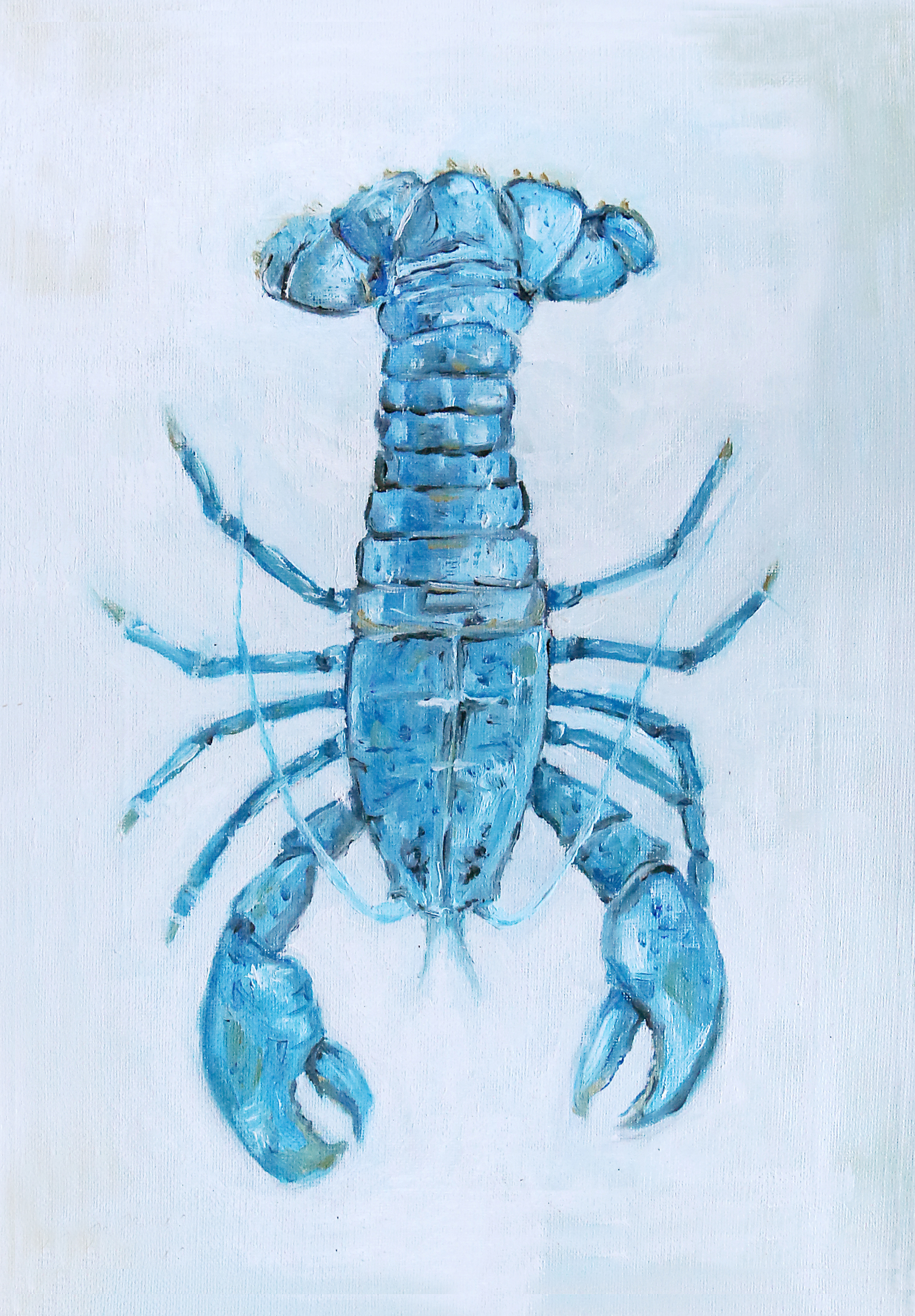 Lobster surrey oil painting