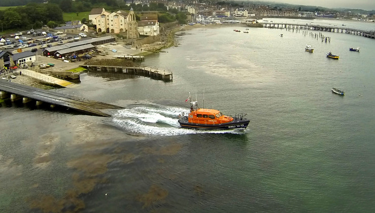 Swanage lifeboat from the air
