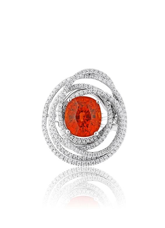 Mandarin Garnet Orion Ring