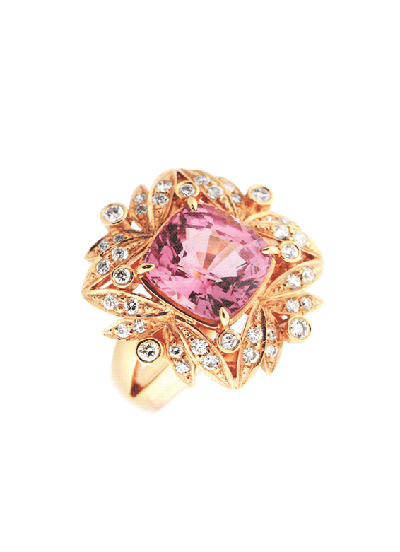 Pink Spinel Valerian Ring