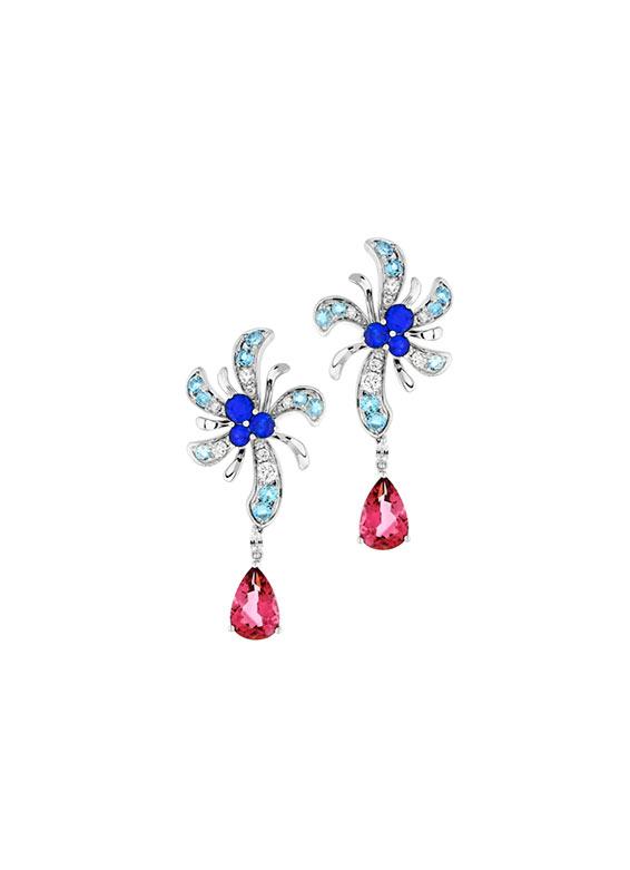 Pink Tourmaline & Sapphire