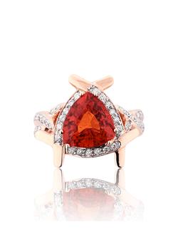 Trillion Mandarin Garnet Diamond