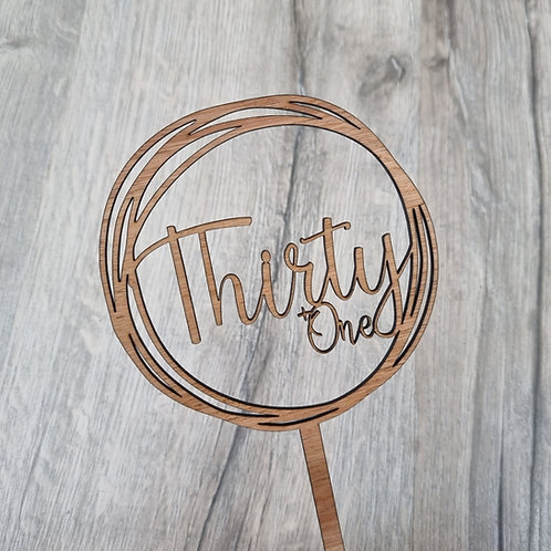 Personalised Scribble Cake Topper