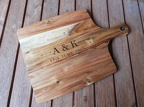 Personalised Initials and Date Board